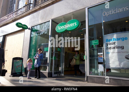 Specsavers branch UK - Stock Photo