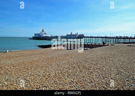 Eastbourne Pier, Eastbourne Seafront, East Sussex, UK - Stock Photo