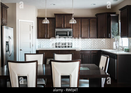KITCHEN MODERN INTERIOR DESIGN - Stock Photo