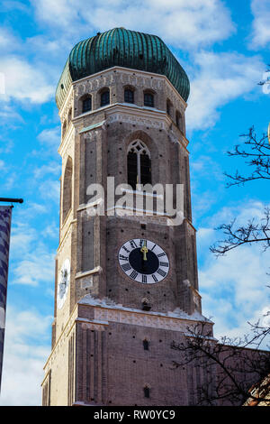 famous Munich Cathedral, also called Cathedral of Our Dear Lady, Munich - Stock Photo