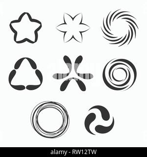 Abstract geometric shapes, symbols for your design. Vector shapes. - Stock Photo