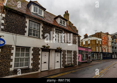 Margate old town, within a short walk from the Tuner Contemorary and Droit house - Stock Photo