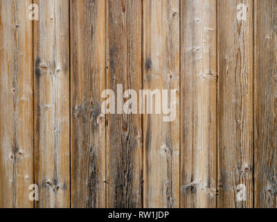 Wood slats background,old exterior cladding with vertical planks. - Stock Photo