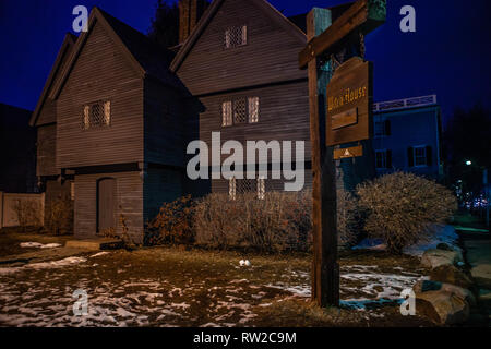 Salem Witch House In Salem Massachusetts Usa Which Is Part