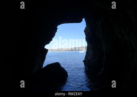 View from La Jolla Cave - Stock Photo