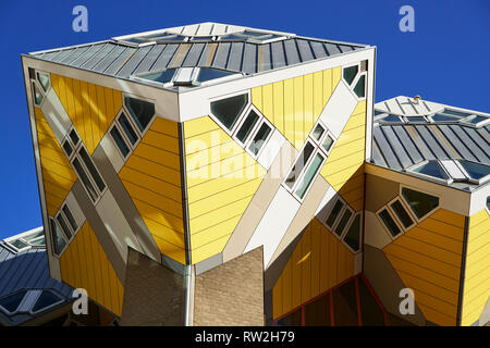 Cube Houses, Rotterdam, The Netherlands - Stock Photo