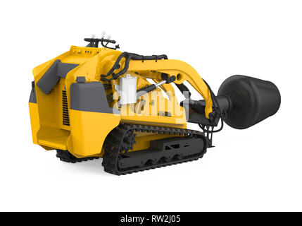 Skid-steer Concrete Mixer Isolated - Stock Photo