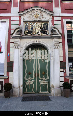 Former home of Johann Uphagen which is now a museum in Gdansk - Stock Photo