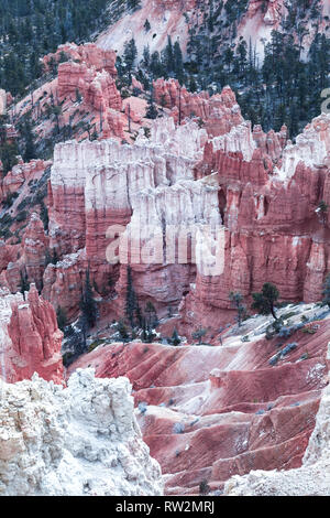 Amazing hoodoo sandstone formations in scenic Bryce Canyon National Park, State Utah, USA - Stock Photo