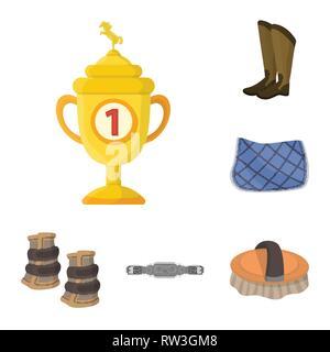 Vector design of horseback and equestrian logo. Set of horseback and horse  vector icon for stock. - Stock Photo
