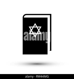 Flat design Jewish torah book icon, vector. - Stock Photo
