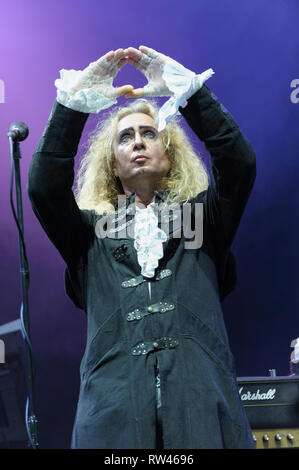 Nad Sylvan performing with Steve Hackett's Genesis Extended at Cropredy Festival, August 7, 2014 - Stock Photo