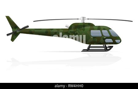 military helicopter vector illustration vector illustration isolated on white background - Stock Photo