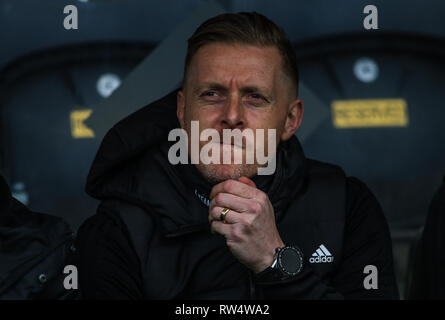 2nd March 2019 , KCOM Stadium, Hull , England; Sky Bet Championship, Hull City vs Birmingham City ;  Garry Monk manager of Birmingham  Credit:   Craig Milner/News Images  English Football League images are subject to DataCo Licence - Stock Photo