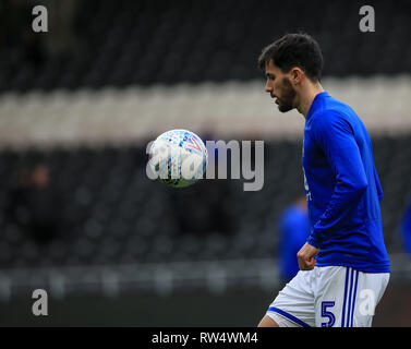 2nd March 2019 , KCOM Stadium, Hull , England; Sky Bet Championship, Hull City vs Birmingham City ;  Maxime Colin (05) of Birmingham Credit:   Craig Milner/News Images  English Football League images are subject to DataCo Licence - Stock Photo
