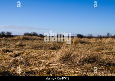 Stark landscapes under the harsh Winter sun. - Stock Photo