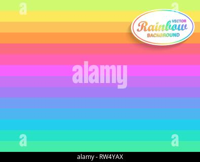 Rainbow horizontal background.Backdrop from Rainbow's rays.Sunburst multicolor lines.Fun beams for you design,template for business,advertise,packagin - Stock Photo