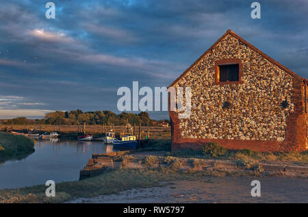The pretty coastal village of Thornham Staithe near Hunstanton in Norfolk - Stock Photo