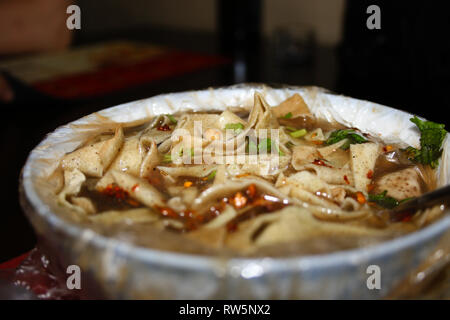 Tianjin style Breakfast (gābacài) - Tianjin, China. - Stock Photo