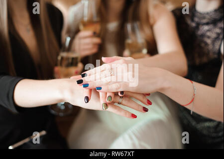 Join Hands Cancer Campaign Care Charity Union Concept - Stock Photo