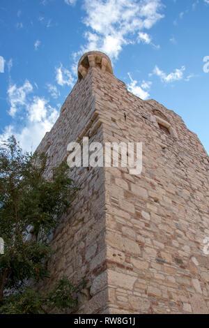 wall of castle of Lykourgos Logothetis - Stock Photo