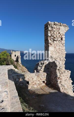 ruins of castle of Lykourgos Logothetis - Stock Photo