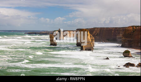 Section of the Twelve Apostles along the Great Ocean Road, south Victoria, Australia - Stock Photo