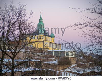 Spitzhaus Radebeul bei Dresden im Winter - Stock Photo