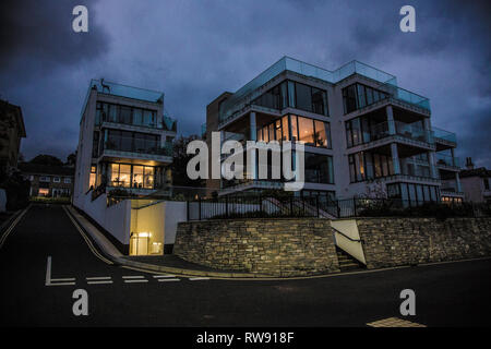 Expensive, waterfront, property, properties, apartments, flats, seafront, sea, views, house,houses, modern, new, build, investment, opportunity, Cowes - Stock Photo
