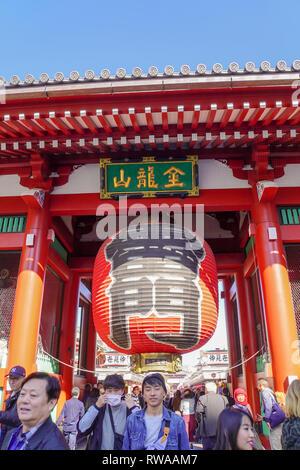 Japan, Tokyo, Asakusa, Senso-ji temple gate - Stock Photo
