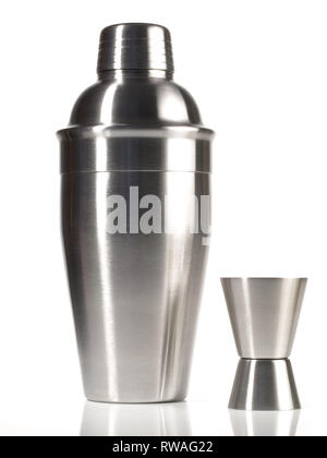 Cocktail Shaker on white Background - Stock Photo