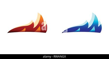 Fire Flame Logo design vector template silhouette - Stock Photo