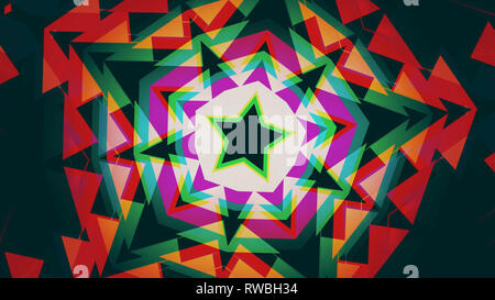 Star shaped Art Deco inspired background - Stock Photo