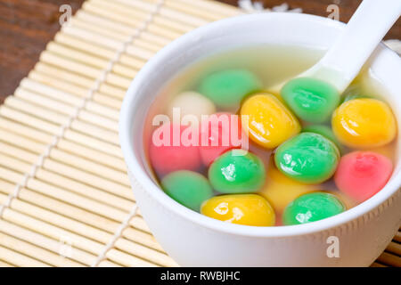 Tang Yuan or traditional chinese sweet rice ball - Stock Photo
