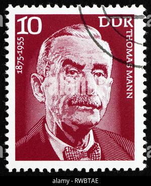 GDR - CIRCA 1975: a stamp printed in GDR shows Thomas Mann, Writer, Novelist, Essayist, circa 1975