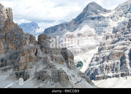 View on Mount Lagazuoi, Dolomiti, Italy - Stock Photo