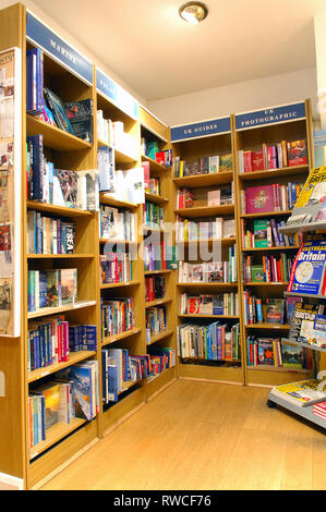 Books for sale in the Travel Book Company, Notting Hill