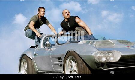 WALKER,DIESEL, FAST and FURIOUS 6, 2013 - Stock Photo