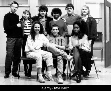 CHRYSTIE,WILKS,SIMMONDS,MCLAUGHLIN,MUSTAFA,BETTLES,MCDONALD, GRANGE HILL, 1986 - Stock Photo