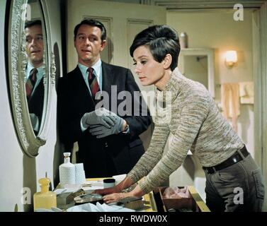 CRENNA,HEPBURN, WAIT UNTIL DARK, 1967 - Stock Photo