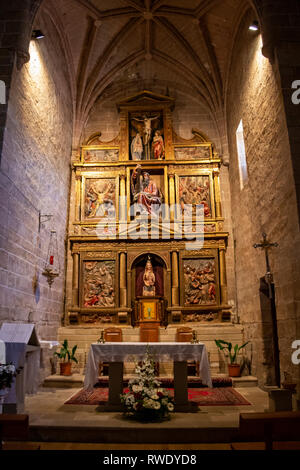 ZARIQUIEGUI, SPAIN - MAY 08, 2017: Interior of the Church of San Andres - Stock Photo