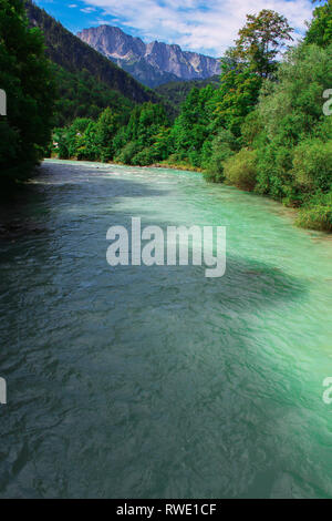 beautiful river at the Koenigssee - Stock Photo