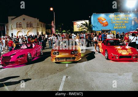 HIGH PERFORMANCE CARS, 2 FAST 2 FURIOUS, 2003 - Stock Photo