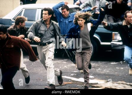 BROSNAN,HAMILTON, DANTE'S PEAK, 1997 - Stock Photo