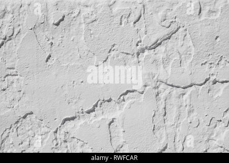 The grunge white concrete old texture wall.old cement grunge texture background vintage style.Rough plastered walls with Gray and grey White - Stock Photo