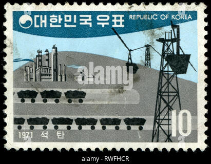 Postage stamp from South Korea issued in 1971 - Stock Photo