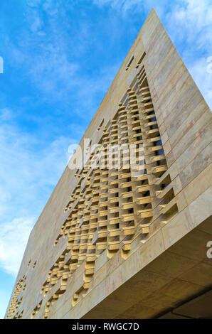 Malta, Valletta: View of the new modern building of the Maltese Parliament. - Stock Photo
