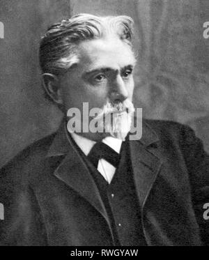 Bebel, August, 22.2.1840 - 13.8.1913, German politician and publicist, Member of the German Reichstag 1871 - 1881 and 1883 - 1913, half-length, circa 1895, Additional-Rights-Clearance-Info-Not-Available - Stock Photo