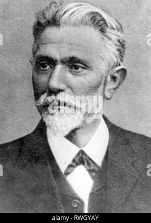 Bebel, August, 22.2.1840 - 13.8.1913, German politician and publicist, Member of the German Reichstag 1871 - 1881 and 1883 - 1913, portrait, circa 1895, Additional-Rights-Clearance-Info-Not-Available - Stock Photo