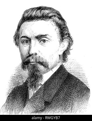 Bebel, August, 22.2.1840 - 13.8.1913, German politician and publicist, Member of the North German Reichstag 1867 - 1871, portrait, wood engraving, circa 1868, Additional-Rights-Clearance-Info-Not-Available - Stock Photo